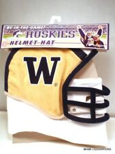 NCAA Washington Huskies Fleece Fan Helmet Hat large Football Excalibur NCA-WA-L
