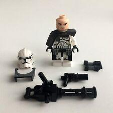 Lego Star Wars Clone Trooper Commander aus Lego Teilen + Mini Gun/Custom Zubehör