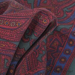 NWT #1 MENS Polo Ralph Lauren Silk Green Ancient Madder Paisley Pocket Square NR