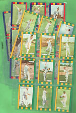 #T74. SET(28) COLES 1953-1954 CRICKET CARDS, AUSTRALIA &  ENGLAND