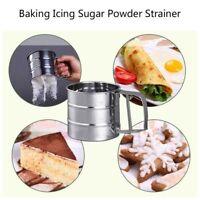 Stainless Steel Flour  Sieve Filter Baking Icing Sugar Powder Strainer