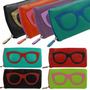 Ladies Leather Colourful Glasses Case by Ili New York Spectacles Sun Summer