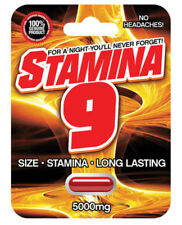 5X Stamina 9 Male Sexual Enhancement Pill - 5000 mg 1 Capsule Blister (5 Pills)