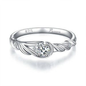 925 Sterling Silver Rings For Women Zircon Stone Engagement Wedding Fine Jewelry