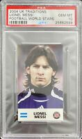 2004 UK TRADITIONS FOOTBALL WORLD STARS ROOKIE RC LIONEL MESSI PSA 10 HOT🔥GOAT