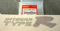 JDM Honda Acura Integra Type R Badge Emblem Sticker Decal OEM Genuine TypeR