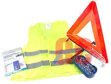 Triangle de sécurité urgence panne de voiture voyager de l'UE bulbe gilet l'Europe à l'étranger Kit 4