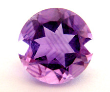 3.67ct SPARKLING AAA Natural Heated Brazilian Round Cut Amethyst !