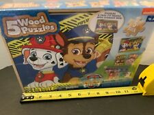 """Nickelodeon Paw Patrol """"Pups on duty"""" wood  Puzzels new in box."""