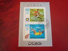 AJMAN - 1968 OLYMPICS (IMPERF) - UNMOUNTED USED MINIATURE SOUVENIR SHEET