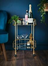 🌟New Boxed Gold Drinks Trolley Cocktail Trolley With Glass Shelves INSTA🌟