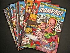 Rampage starring the Defenders -  12 of the first 15 issues, UK Marvel, job lot.