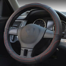 Car Steering Wheel Cover Stitching PU Leather Universal 38cm 15 inch For Audi A6