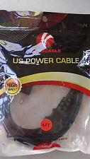 VCOM 6-Feet VC-POW/UL6 US-3Prong Power Cord (CE031-6FEET)-OPEN PACKAGE