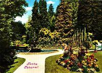 Überlingen am Bodensee , Stadtgarten, Ansichtskarte , gelaufen