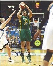 Kaleena Mosqueda-Lewis Signed 8 x 10 Photo Seattle Storm Wnba Basketball Uconn