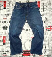 mens *W30 x L27 Levi's 501 Jeans Red Tab Straight Leg Button Fly Indigo Denim