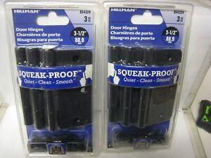 """2 sets of Hillman Squeak Proof 3-1/2"""" Door Hinge oil rubbed bronze 2 Packs of 3"""
