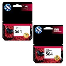 TWIN HP GENUINE 564 Photo Black Ink Photosmart 7520 7525 3520 3521 3522 3525