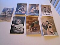 Children Postcards Lot of 7 Assorted Vintage French Collectible