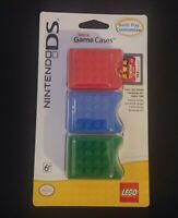 Brick Game Cases For Nintendo DS Cartridge Lego Official Red Blue Green