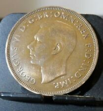 CIRCULATED 1946 1 PENNY UK COIN (91219)1.....FREE DOMESTIC SHIPPING!!!!!