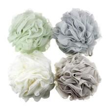 4 Pack Loofah Bath and Shower Sponge Pouf Mesh Brush Ball Body Scrubber Unisex