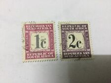 South Africa 2 Postage Due Stamps