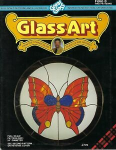 Glass-Art Folio 8 Great Glass Stained Glass Butterfly & Dove Patterns Craft Book