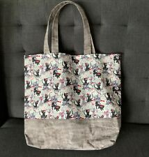 NEW Cotton Shopping Shoulder Tote Bag Handmade Cats Pattern Lined w Handles