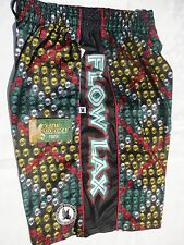 Nwt Flow Society Youth Xl Yellow Rasta Argyle Lacrosse Shorts Pa39Mp127 New