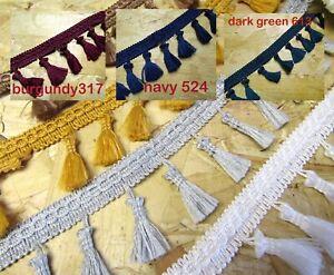 Fringe Trim Tassel Trim Crafts Upholstery Edging 8col Fringing Tassels Trim 50mm