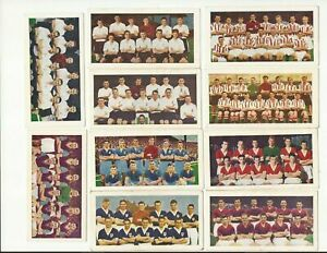 SOCCER BUBBLE GUM ~ SOCCER TEAMS 1ST SERIES ~ 1956 ~ CHOOSE YOUR CARDS