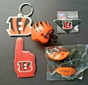 Cincinnati Bengals Football Vending Charms Lot of 5 Puzzle Helmet Key Chain 292