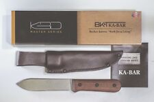 KA-BAR BECKER BK-62 KEPHART Stone Washed Knife with Leather Sheath