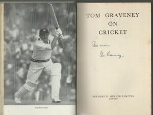 Tom Graveney on Cricket.  Signed - first edition.