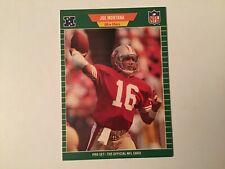 1989 Pro Set Football Joe Montana #381 San Francisco 49ers