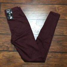 H&M Divided Super Skinny High Waist Jegging Size 4 Maroon Stretch Legging Jeans