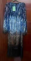 NEW Rixo London Coco Ombre Sequin Dress Size XS XS Fits UK 8