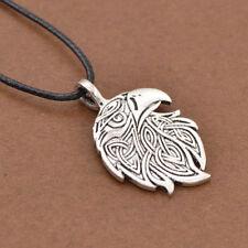 Valknut Viking Necklace Odin's Symbol Warriors  Eagle Silver Pendant Talisman