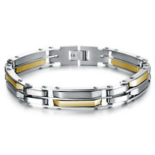 Mens Unisex Gold Stainless Steel Bracelet G50
