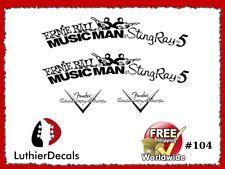 Musicman StingRay 5 Guitar Decal Waterslide Headstock Restoration Logo #104
