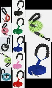 Pet Dog Training Lead  Leash Collar Harness Long Line Strong Rope 5M 10M 15M.