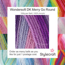 STYLECRAFT MERRY GO ROUND DK KNITTING WOOL YARN ACRYLIC SELF STRIPING WONDERSOFT