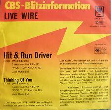 "7"" 1979 CBS BLITZ ! LIVE WIRE : Hit & Run Driver /M-?"