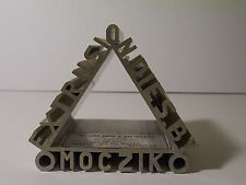 Moczik Tool and Die Works aluminum art paperweight Advertising sample circa 1960