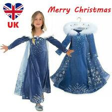 Девушка 2019 ~ 2 замороженная принцесса Elsa Fancy Dress Up косплей костюм вечеринки наряд Великобритания
