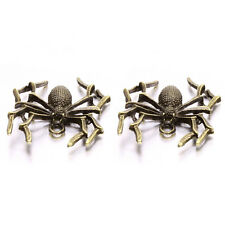 15pcs Vintage Bronze Antiqued Alloy Spider Pendant Halloween Jewellery Charm  BS