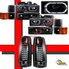 94 95 96 97 98 Chevy C10 CK Tahoe Suburban Halo Headlights Set & LED Tail Lights