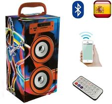 ALTAVOCES ALTAVOZ PORTATIL BLUETOOTH TORRE MULTIMEDIA USB SD RADIO FM AUX MANDO